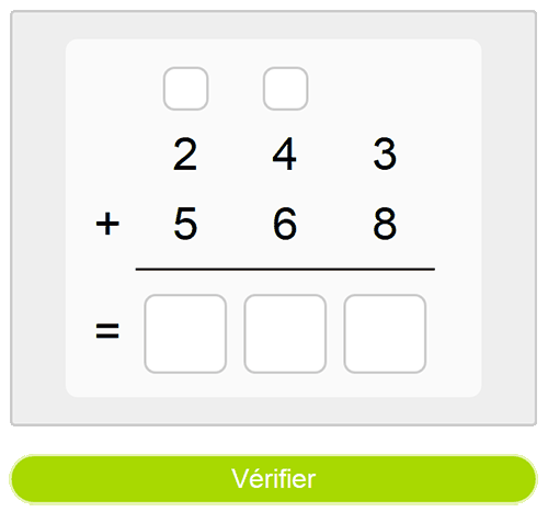Calcul écrit : l'addition
